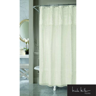 nicole miller sparkle fabric shower curtain free
