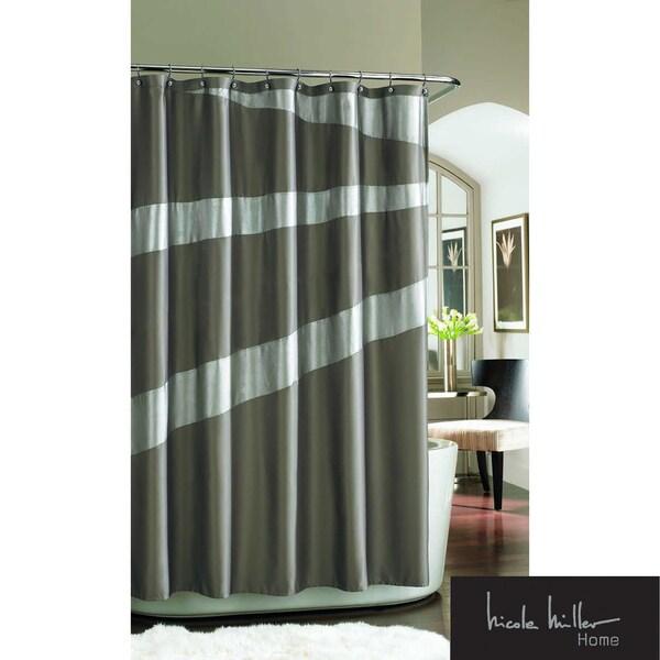 Shop Nicole Miller Tangent Shimmer Shower Curtain