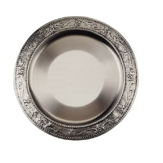 Old Dutch Embossed Victoria Charger Plate (Set of 6)  sc 1 st  Overstock.com & Metal Dinnerware For Less | Overstock.com