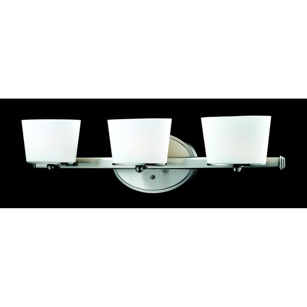 Chimera 3-light Brushed Nickel Wall Vanity