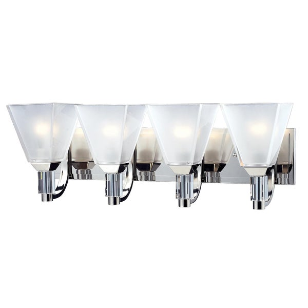 Luxe 4-light Chrome Wall Vanity
