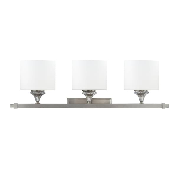 Avignon 3-light Satin Nickel Wall Vanity