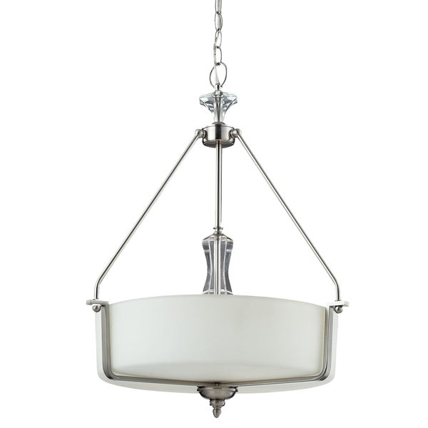 Avignon 3-light Satin Nickel Pendant