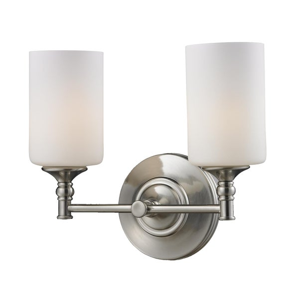 Cannondale 2-light Brushed Nickel Wall Vanity