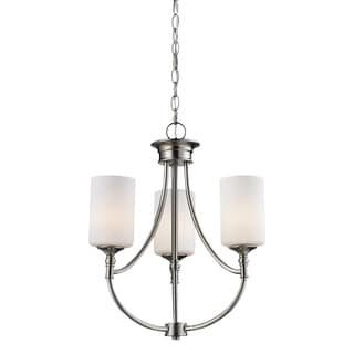 Cannondale 3-light Brushed Nickel Chandelier