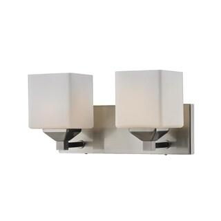Quube Two-Light Vanity Fixture
