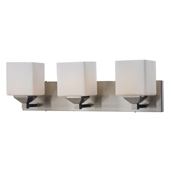 Shop Quube Three Light Wall Vanity On Sale Free Shipping Today 7537732