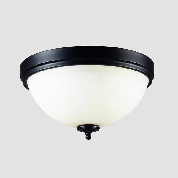 Harmony Matte Black 2 Light Flush Mount Fixture