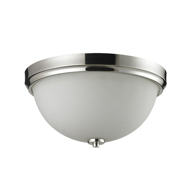 Ellipse 2-light Chrome Flush Mount Fixture