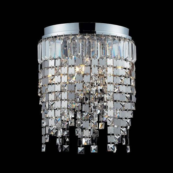 Nyssa Chrome 5-light Crystal Flush-mount Fixture