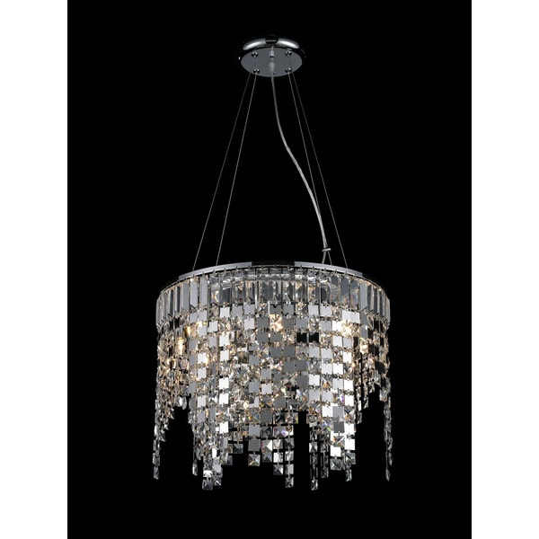 Nyssa Chrome 8-light Crystal Chandelier