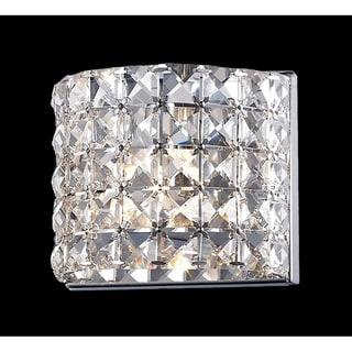 Panache Chrome-finished Crystal Light Fixture
