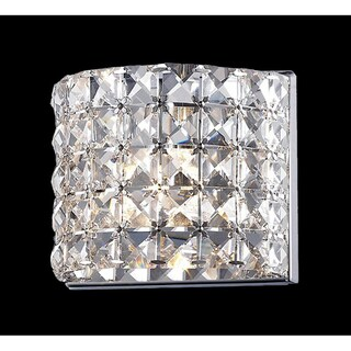 Panache Chrome-finished Crystal Light Fixture