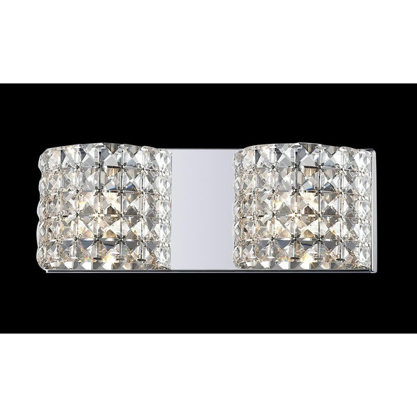 Panache Crystal-embellished Two-light Light Fixture