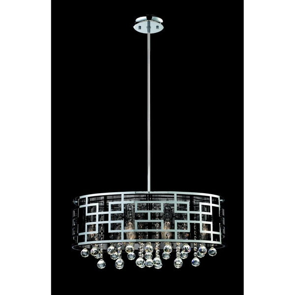 Mirach Chrome 6 Light Crystal Chandelier