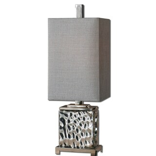 Amazing Uttermost Bashan Contemporary Nickel Plated Table Lamp