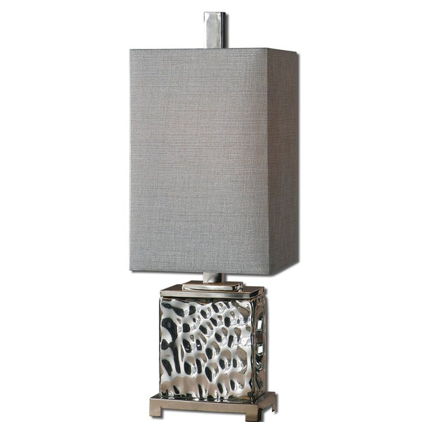 Uttermost Bashan Contemporary Nickel-plated Table Lamp