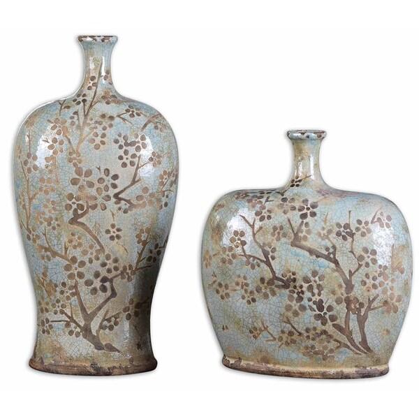 Uttermost Citrita Antiqued Decorative Vases (Set of 2)