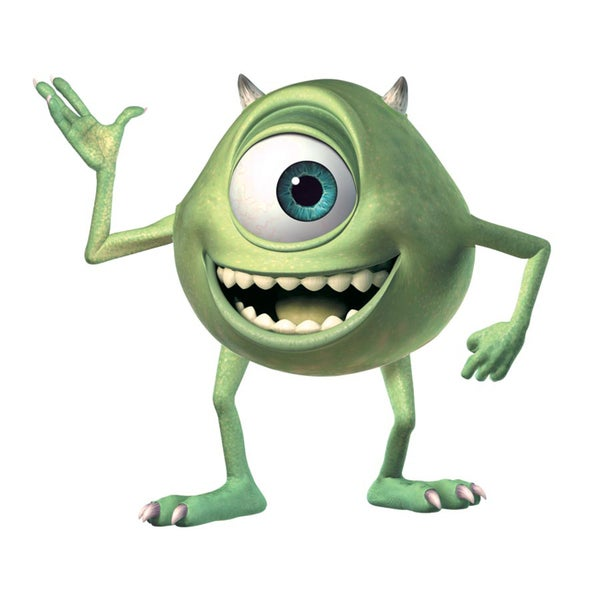 Shop Monsters Inc Giant Mike Wazowski Peel and Stick Wall Decals ...