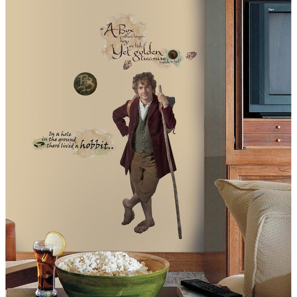 The Hobbit Bilbo Baggins Giant Peel & Stick Wall Decals