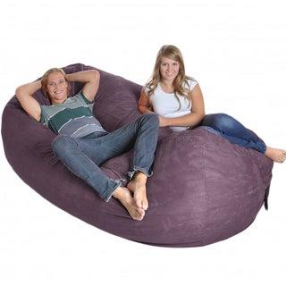 Purple 8-foot Oval Microfiber/ Memory Foam Bean Bag