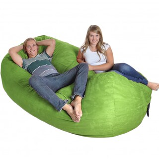 Lime Oval 8-foot Microfiber/ Foam Bean Bag