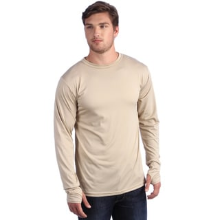 Kenyon Men's Tan Long Sleeve Crew Neck Shirt