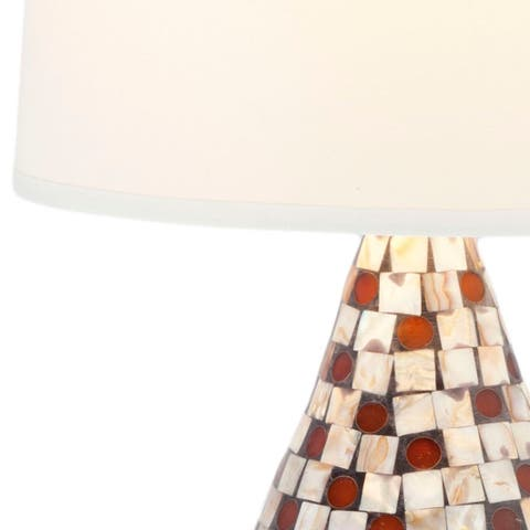 Safavieh Lighting 19-inch Mother of Pearl Brown Table Lamp (Set of 2)