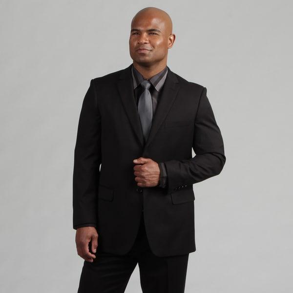 Angelo Rossi Men's Tailored Black 2-piece Suit