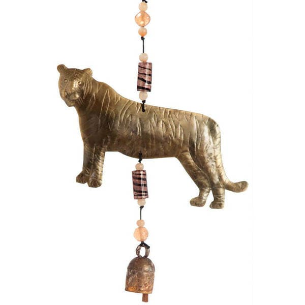 Handmade Here Kitty, Kitty Tiger Wind Chime (India)