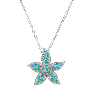 CHROMA Silver CZ Starfish Necklace Made with Swarovski Element ZIRCONIA