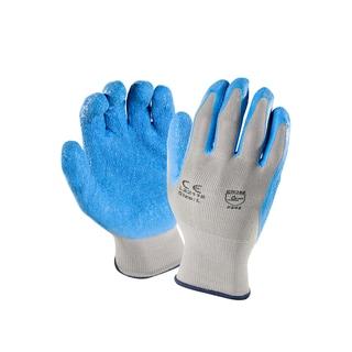 Azuza Safety 13-Gauge Grey Latex Coated Nylon Shell Working Gloves (12 Pairs)