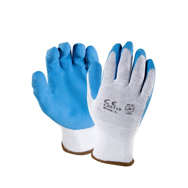 Azuza Safety 10-Gauge Grey Working Gloves with Latex Crinckle-finish Palms (Pair of 12)