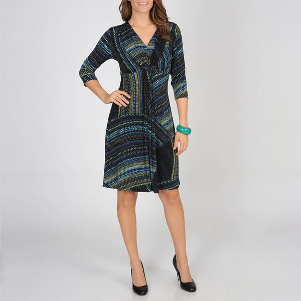 Lennie for Nina Leonard Women's Micro Print Jersey Dress