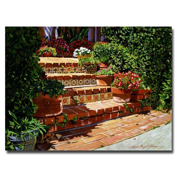 David Lloyd Glover 'A Spanish Garden' Canvas Art