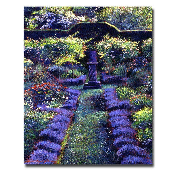 David Lloyd Glover 'Blue Garden Sunset' Canvas Art