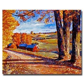 David Lloyd Glover 'Autumn Evening' Canvas Art