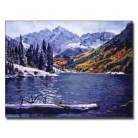 David Lloyd Glover 'Rocky Mountain Solitude' Canvas