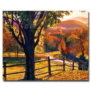 David Lloyd Glover 'Autumn Fire Colors' Canvas