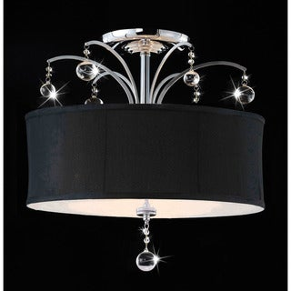 Laguna Chrome and Crystal Flush-mount Chandelier