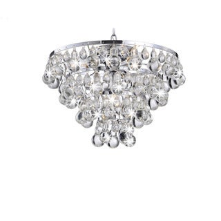 Tranquil Crystal and Bubble Flush-mount Chandelier - Free Shipping ...