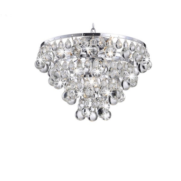 Tranquil Chrome Plating Chandelier with Smooth Crystals