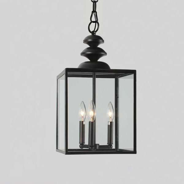 Foyer Caged Chandelier : Antique black light glass caged foyer chandelier free