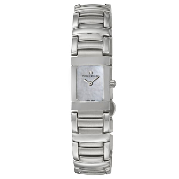 Maurice Lacroix Women's Stainless-Steel 'Miros' Watch with White Mother-of-Pearl Dial