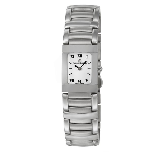 Maurice Lacroix Women's Stainless-Steel 'Miros' Watch with White Dial