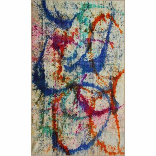 nuLOOM Overdyed Abstract Multi Rug