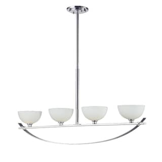 Ellipse Chrome 4 Light Island Light Fixture