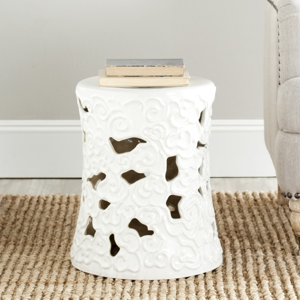 Shop Safavieh Paradise Cloud White Ceramic Garden Stool
