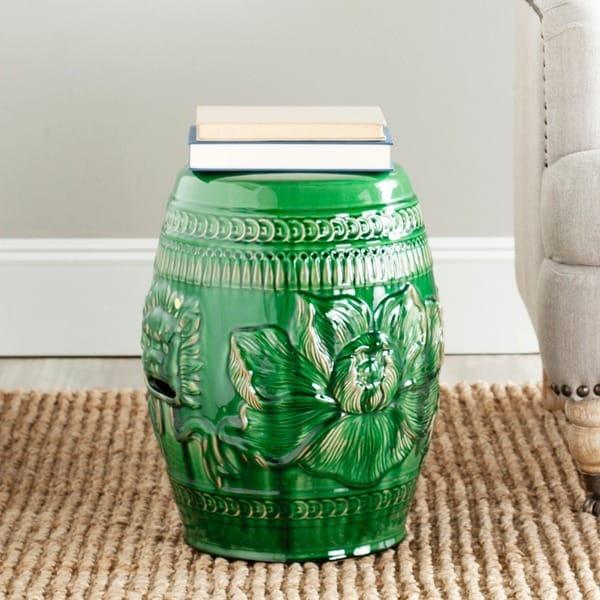 Safavieh Paradise Dragon Jade Green Ceramic Garden Stool - Free ...
