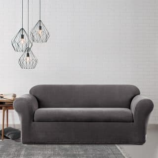 Sure Fit Stretch Metro Two Piece Grey Sofa Slipcover|https://ak1.ostkcdn.com/images/products/7538755/P14973916.jpg?impolicy=medium